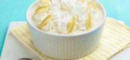 Mousse de limón con nata