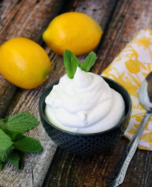 Mousse de limón vegano